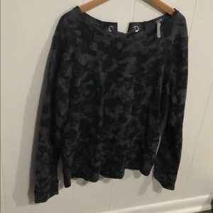Black and grey camo sweater